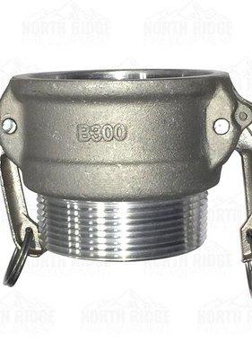"3"" B300 Female Cam Lock x Male NPT"