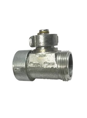 "CS SUPPLY C&S Supply Inline T-Valve 1.5"" NH x 1.5"" NH x 1"" NPSH"