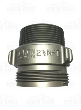 "ACTION COUPLING Action AA136 2.5"" NH Male X 2.5"" NPT Male Adapter"