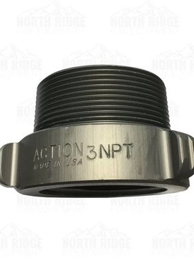 """ACTION COUPLING Action AA137 2.5"""" NH Female X 3"""" NPT Male Adapter"""