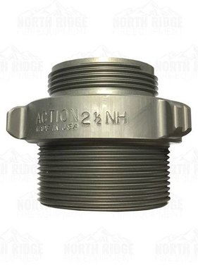 "ACTION COUPLING Action AA136 2.5"" NH Male X 3"" NPT Male Adapter"