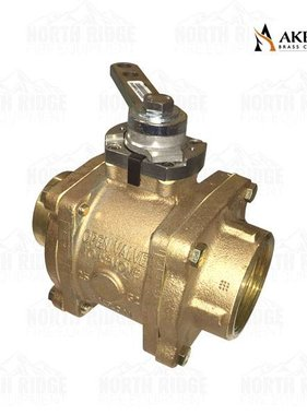 "Akron Brass 88250039 Ball Valve with 2.5"" Grooved x 2"" NPT"