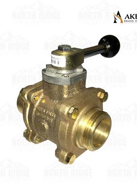 "Akron Brass 1.5"" NH x 1.5"" Grooved Valve with Ball Style Lever"