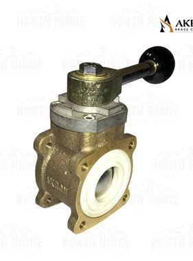 "AKRON BRASS Akron Brass 88100053 1"" Valve with Ball Style Lever"