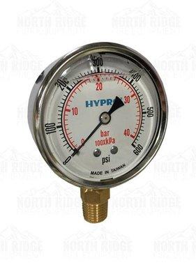 "Pentair Hypro 2.5"" Liquid Filled 0-600 PSI Bottom Mount Pressure Gauge #2640-0008"