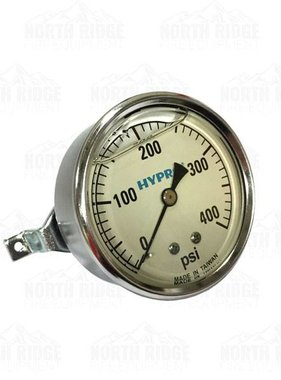 "PENTAIR Hypro 2.5"" Liquid Filled 0-400 PSI U-Clamp Pressure Gauge #WGG400C"