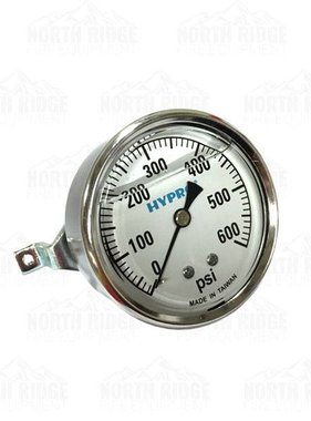 "PENTAIR Hypro 2.5"" Liquid Filled 0-600 PSI U-Clamp Pressure Gauge #WGG600C"