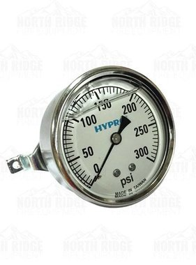 "PENTAIR Hypro 2.5"" Liquid Filled 0-300 PSI U-Clamp Pressure Gauge #WGG300C"