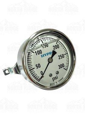 "Pentair Hypro 2.5"" Liquid Filled 0-300 PSI U-Clamp Pressure Gauge #WGG300C"