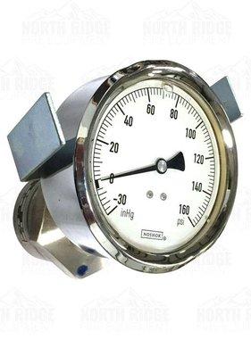 """Noshok IC-3010278-40176 4"""" -30/160 PSI Glycerine Filled Pressure Gauge"""