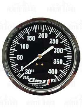 "Hale Class1 4.5"" Liquid Filled 30-400 PSI Pressure Gauge 91583960"