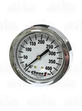 "Hale Class1 2.5"" Liquid Filled 30-400 PSI Pressure Gauge 91523932"