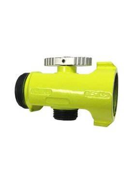 "C&S Supply 1.5"" NH x 1.5"" NH x 1"" NPSH High Visibility T-Valve"