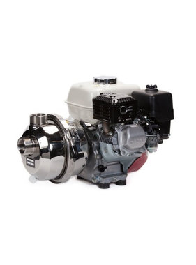 "Pacer Pumps Dual Thread 1.5"" FNPT 2"" MNPT Stainless Potable Water Pump w/Honda GX160 NSF-61 Certified"