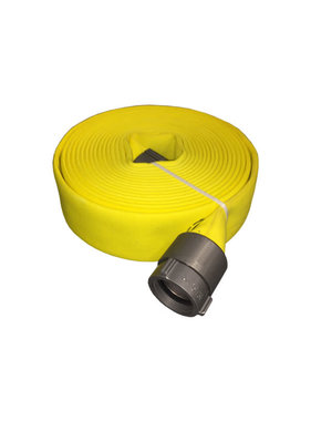 "MERCEDES TEXTILES 3"" x 50ft Fire Hose MD-800 Yellow Color-Treated with 2.5"" NH Couplings"