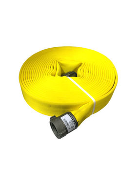 """MERCEDES TEXTILES Mercedes Textiles MD-800 1-3/4"""" x 50' Coupled 1.5"""" NH Yellow Color Treated Fire Hose"""