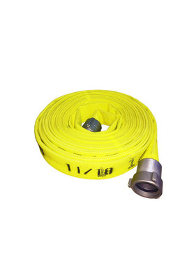"ARMORED TEXTILES Armored Textiles 1.5"" NST x 50'  Forest Lite Yellow Type-2 Fire Hose 55H15FYN"