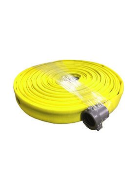 "ARMORED TEXTILES Armored Textiles 1.5""NST x 100'  Forest Lite Yellow Type-2 Fire Hose 55H15FYN"