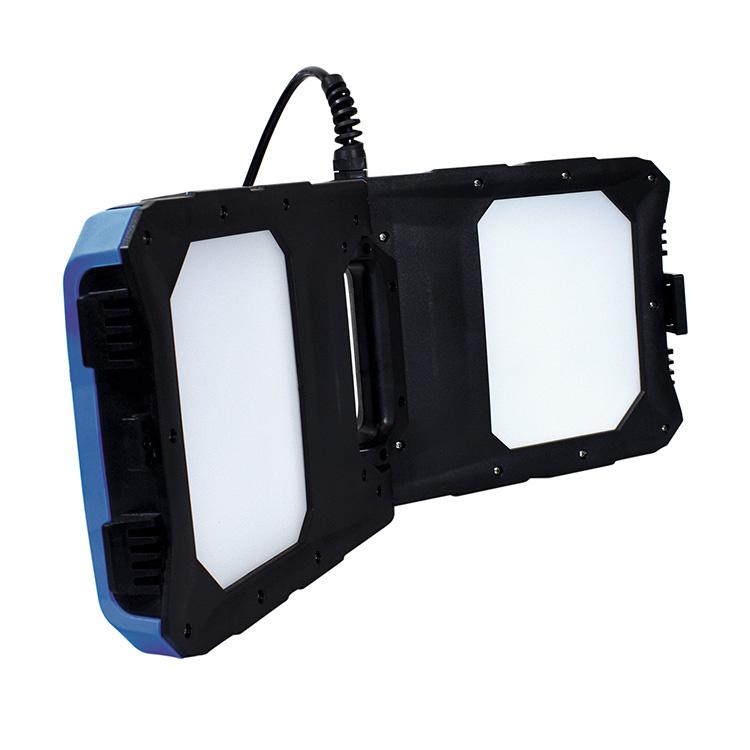 GT INDUSTRIAL PRODUCTS 8000 Lumen LED 2-Panel Work Light in Heavy Duty Case GT-99A-USB