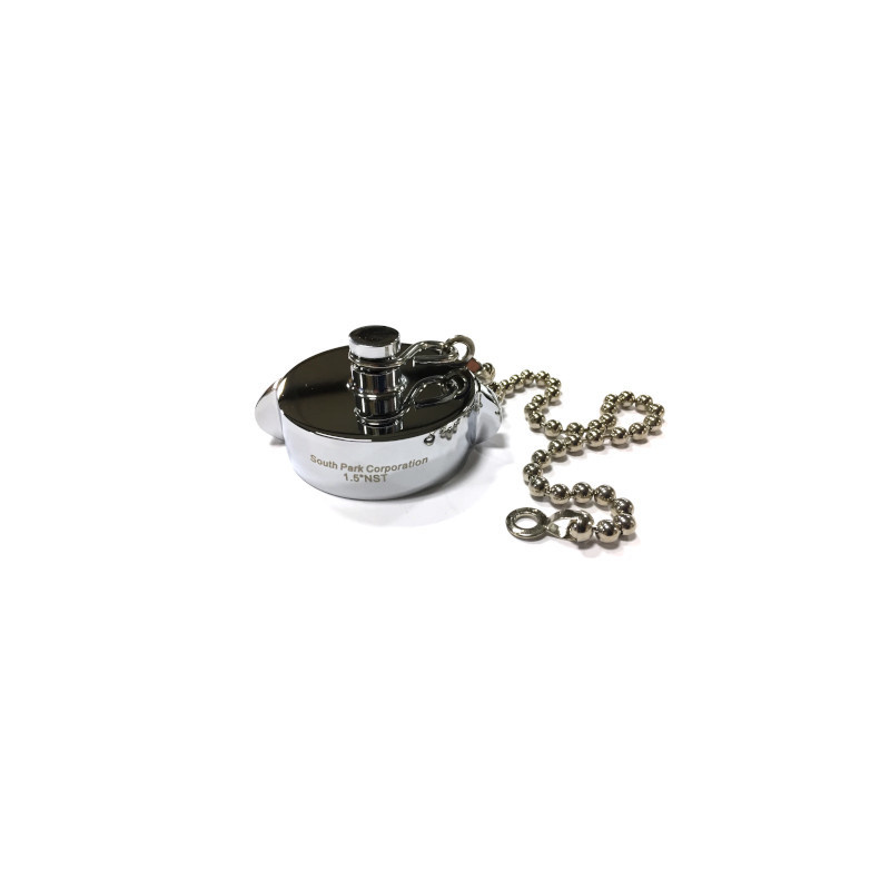 """South Park 1.5"""" NH Chrome Plated Cap Fitting with Chain"""