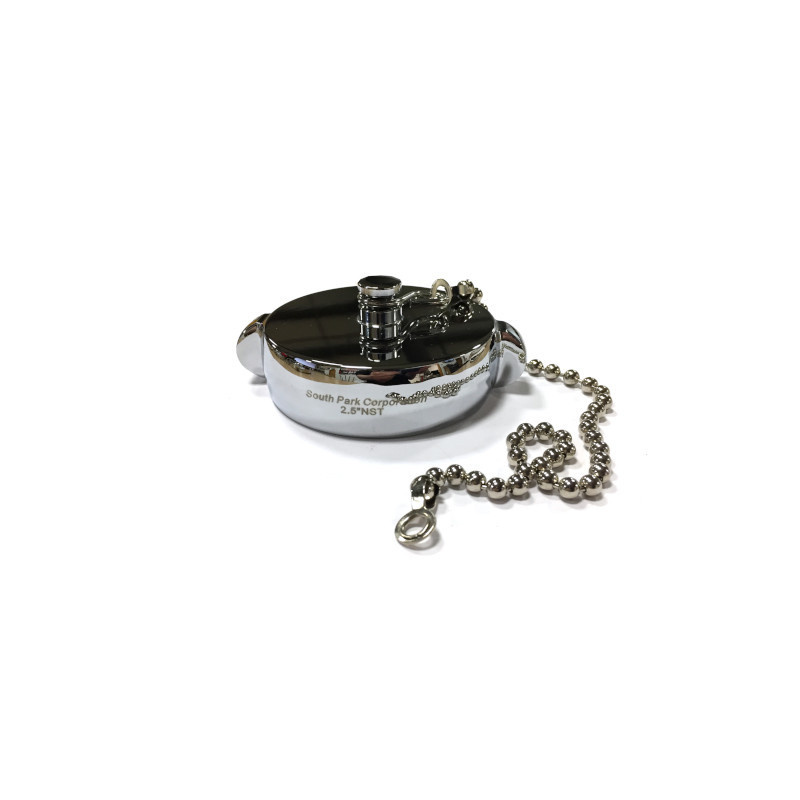 "South Park 2.5"" NH Chrome Plated Cap Fitting with Chain"