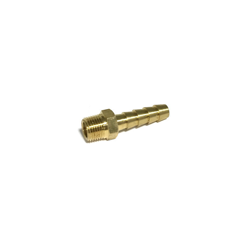 "MIDLAND METAL Brass 1/8"" NPT Male x 1/4"" Hose Barb Fitting 32004"