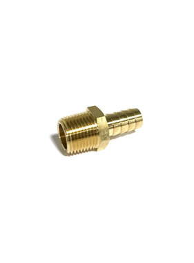 "Brass 1/2"" NPT Male X 1/2"" Hose Barb Fitting 32017"