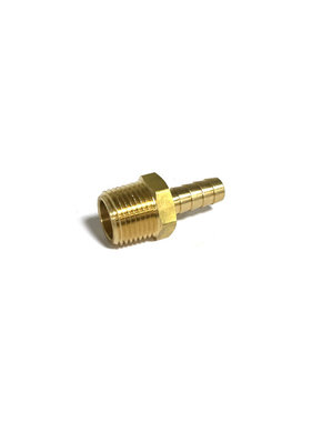 "Brass 1/2"" NPT Male x 3/8"" Hose Barb Fitting 32014"