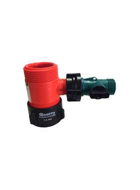 "Scotty Firefighter 1.5"" NH x 1.5"" NH x 3/4"" GHT Water Thief"
