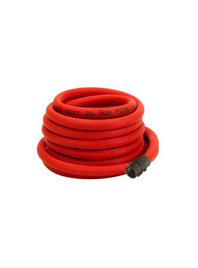 "Kuriyama Fire Products 1"" NPSH x 100' Armored Reel Booster Hose 54H1REDARMP"