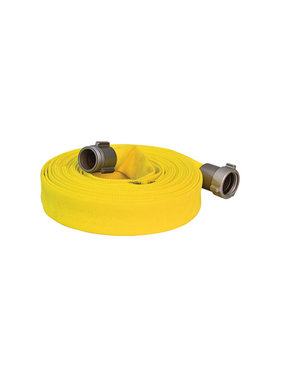 "Armored Textiles Inc. 1 1/2"" NST x 100ft Forest Lite Yellow Type-2 Fire Hose 55H15FYN"