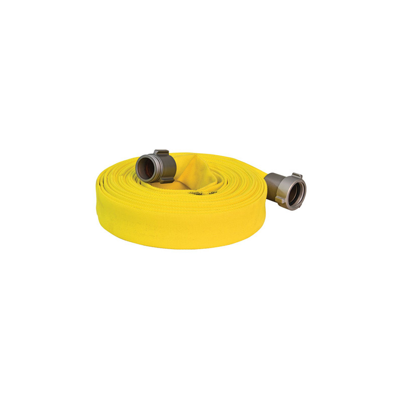 """ARMORED TEXTILES 1 1/2"""" NST x 100ft Forest Lite Yellow Type-2 Fire Hose 55H15FYN"""