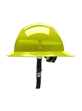 BULLARD Hi-Viz Yellow Bullard Wildland Full-Brim 6-Point Ratchet Fire Helmet Hard Hat