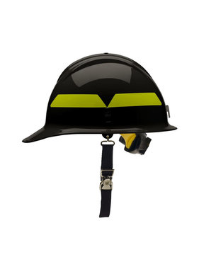 BULLARD Black Bullard Wildland Cap Style 6-Point Ratchet Fire Helmet Hard Hat