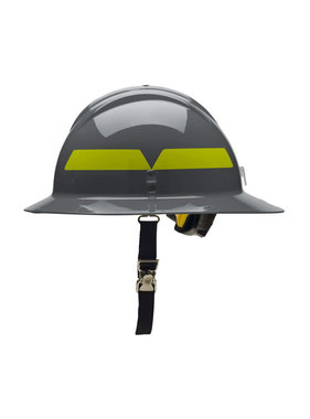 BULLARD Dove Gray Bullard Wildland Full-Brim 6-Point Ratchet Fire Helmet Hard Hat
