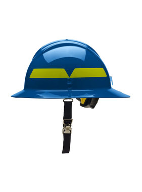 BULLARD Blue Bullard Wildland Full-Brim 6-Point Ratchet Fire Helmet Hard Hat