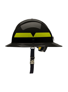 BULLARD Black Bullard Wildland Full-Brim 6-Point Ratchet Fire Helmet Hard Hat