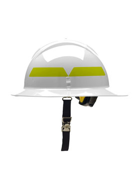 BULLARD White Bullard Wildland Full-Brim 6-Point Ratchet Fire Helmet Hard Hat