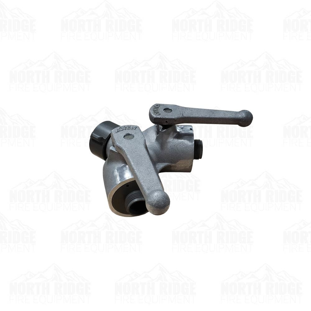 """S&H 1.5"""" NH Inlet x (2) 1"""" NPSH Outlet Gated Wye"""