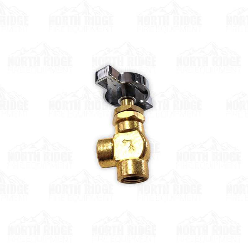 """Hale Products 14BV 1/4"""" Ball Valve with Chrome T-Handle"""