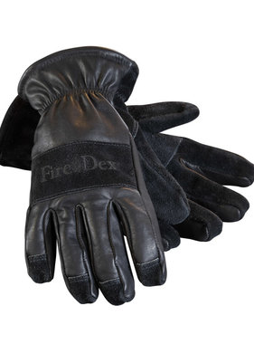 Fire-Dex Dex-Pro Leather Firefighting Glove (Gauntlet Wrist style)