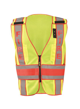 "OccuNomix DOR Deluxe Safety ""Fire"" Solid/Mesh Vest"