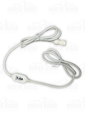 Flexilight 12V 6ft Power Cord with  1.6 Amp Rectifier