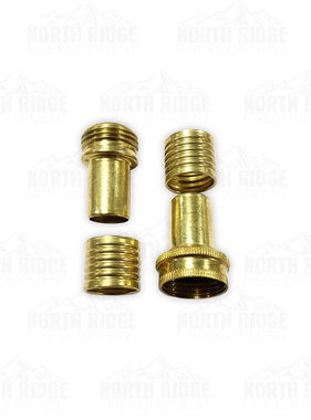 "Mercedes Textiles 3/4"" Brass Hose Coupling Kit for Mop-Up Hose"