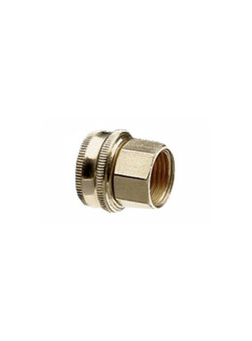 "Brass 3/4"" GHT x 1/2"" NPT Double Female Swivel"