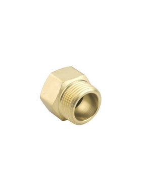 "Brass, Male/Female 3/4"" NPT Male x 3/4"" GHT Female"