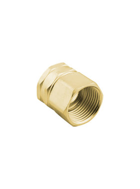 "Brass 3/4"" GHT x 3/4"" NPT Double Female Swivel Adapter"