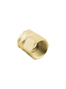 """Brass 3/4"""" GHT x 3/4"""" NPT Double Female Swivel Adapter"""