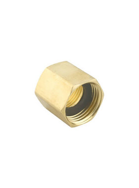 "Brass 3/4"" GHT x 3/4"" NPT Double Female Adapter"