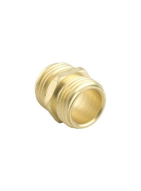 """Brass 3/4"""" GHT Double Male Connector"""